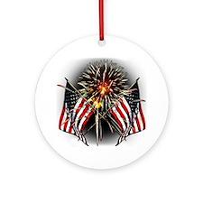 Celebrate America Round Ornament