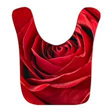 Vivid Red Rose Center Photograph Bib