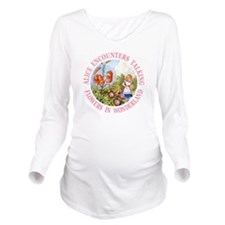 Alice Talking Flower Long Sleeve Maternity T-Shirt