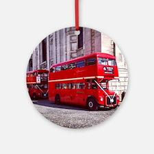 london bus st pauls Round Ornament