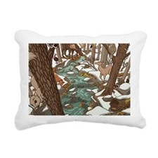 Maine Wildlife Rectangular Canvas Pillow
