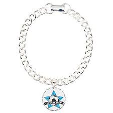 Blue Soccer Star Stitche Bracelet
