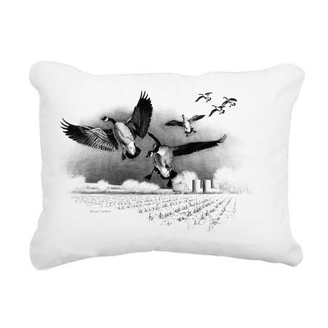 Canadian Geese Rectangular Canvas Pillow