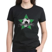 Green Soccer Star Stitched Tee