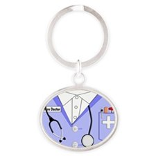 Future Doctor Oval Keychain
