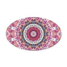 Messed up Sunset kaleidoscope Oval Car Magnet