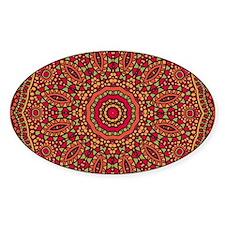 Red Orange Mosaic Flower kaleidosco Decal