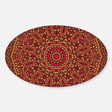 Red Orange Mosaic Flower kaleidosco Decal
