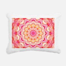 Kaleidoscope; Yellow Pin Rectangular Canvas Pillow