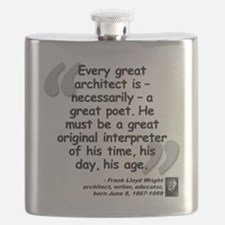 Wright Poet Quote Flask