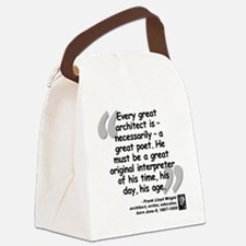 Wright Poet Quote Canvas Lunch Bag