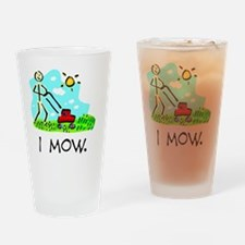 I Mow Drinking Glass
