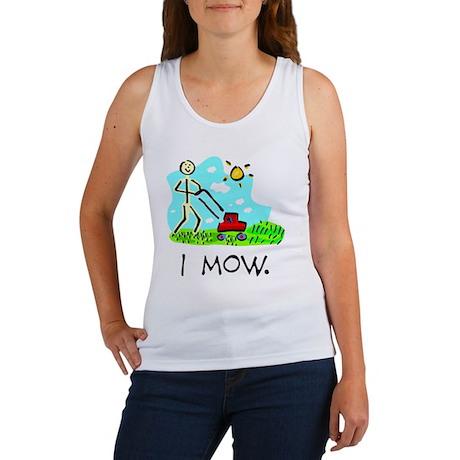 I Mow Women's Tank Top