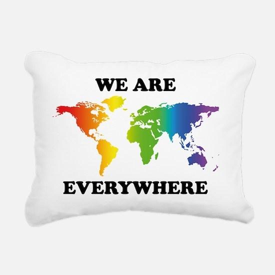 Gay Pride Rectangular Canvas Pillow