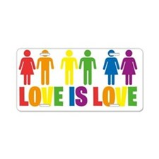 Love is Love Aluminum License Plate