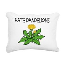 I Hate Dandelions Rectangular Canvas Pillow