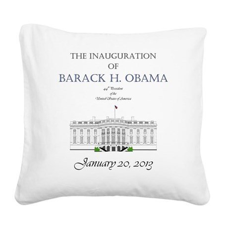 Inauguration of Barack H. Oba Square Canvas Pillow