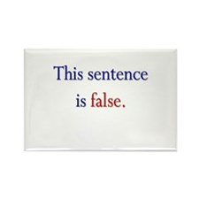 """This Sentence Is False"" Rectangle Magnet"