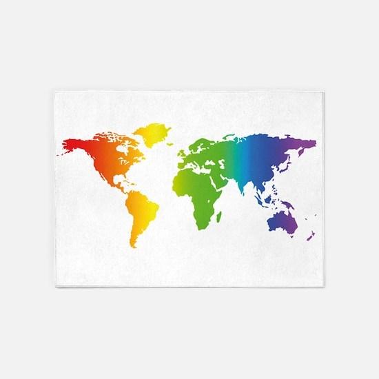 Gay Pride 5'x7'Area Rug