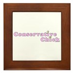 Conservative Chick Framed Tile