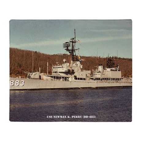 uss newman k. perry large framed pri Throw Blanket