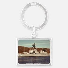 uss newman k. perry framed pane Landscape Keychain
