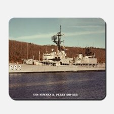 uss newman k. perry framed panel print Mousepad
