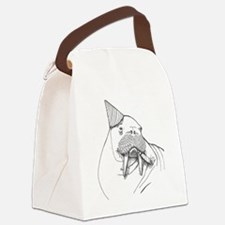 Party Walrus Canvas Lunch Bag