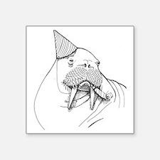 """Party Walrus Square Sticker 3"""" x 3"""""""