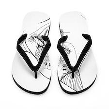 Party Walrus Flip Flops