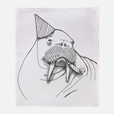 Party Walrus Throw Blanket