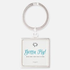 Going Skydiving! Square Keychain