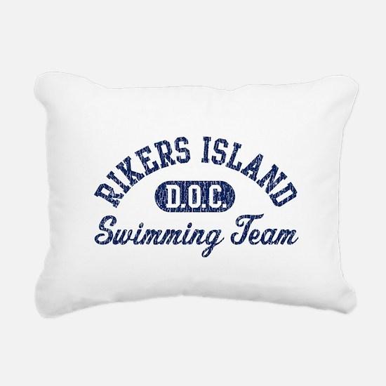Rikers Island Swimming T Rectangular Canvas Pillow