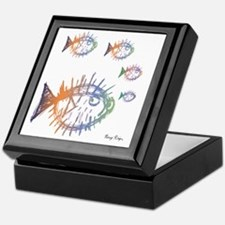 Pufferfish Puffer Fishes Keepsake Box