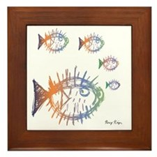 Pufferfish Puffer Fishes Framed Tile