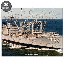 uss nitro large framed print Puzzle