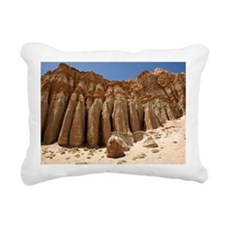 Desert Rock Formation in Rectangular Canvas Pillow