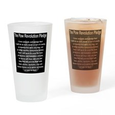 The Paw Revolution Pledge Drinking Glass