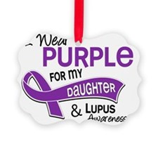 D I Wear Purple For My Daughter 4 Ornament