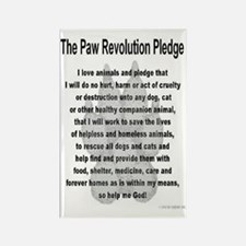 The Paw Revolution Pledge Rectangle Magnet