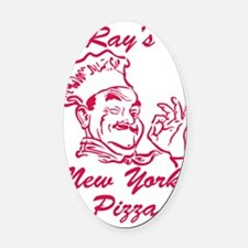 Rays New York Pizza Oval Car Magnet