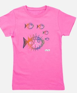 School of Pufferfish Puffer Fish Girl's Tee