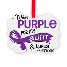D I Wear Purple For My Aunt 42 Lu Ornament