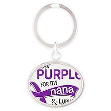 D Nana Oval Keychain