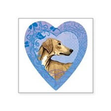 "azawakh-heart Square Sticker 3"" x 3"""