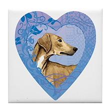 azawakh-heart Tile Coaster
