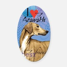 azawakh T Oval Car Magnet