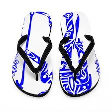 Blue Anubis Flip Flops
