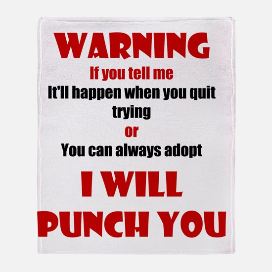 I Will Punch You Throw Blanket