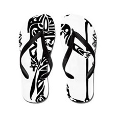Black Anubis Flip Flops